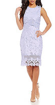 Antonio Melani Tavi Chemical Lace/Stripe Novelty Dress