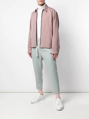 Oamc Wool Zip-up Shirt Jacket Pink