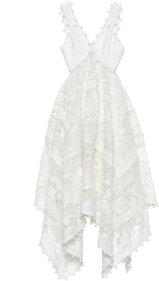 Zimmermann Corsage cotton and silk lace dress