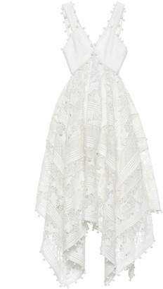 Zimmermann Corsage cotton and silk lace dress