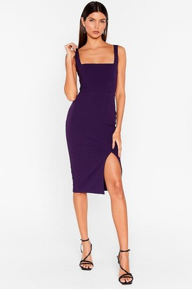 Nasty Gal Womens Squarin' to Go Midi Dress - Purple