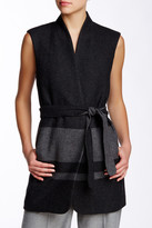 Vince Blanket Stripe Wool Blend Vest