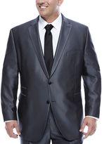 Jf J.Ferrar Gray Luster Herringbone Big and Tall Fit Suit Jacket