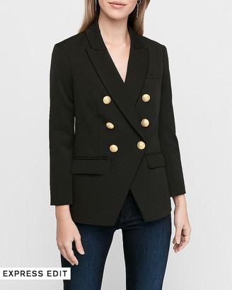 Express Double Breasted Button Front Blazer