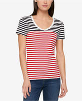 Tommy Hilfiger Cotton Striped T-Shirt, Created for Macy's