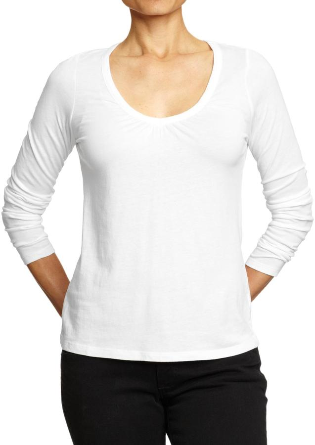 Old Navy Women's Perfect Shirred V-Neck Tees