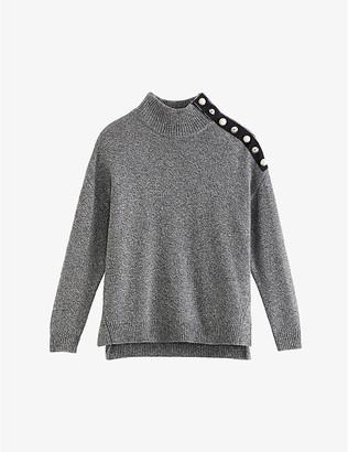 Claudie Pierlot Malo wool-blend button shoulder jumper