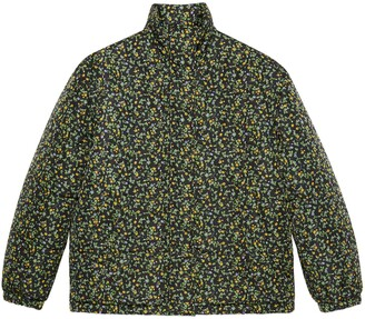 Gucci Liberty floral nylon down jacket