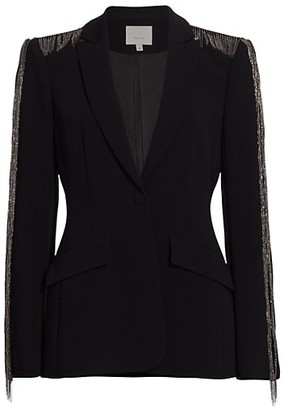 Cinq à Sept Brigitte Chain-Embellished Blazer