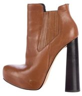Alexander Wang Leather Platform Booties