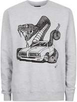 Art Disco Grey Snake Ride Sweatshirt*