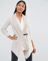 Lipsy Cable Knit Cardigan With Buckle Detail