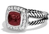 David Yurman Petite Albion Ring with Pyrope Garnet & Diamonds