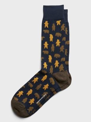 Banana Republic Bear Silhouette Sock