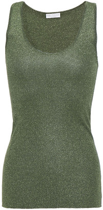 Brunello Cucinelli Metallic Stretch-knit Tank