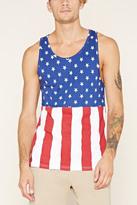 Forever 21 FOREVER 21+ American Flag Print Tank