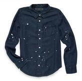 DL Premium Denim Girl's Paint Splatter Chambray shirt
