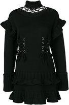 Alexander McQueen lace-up knitted dress - women - Wool/metal - M