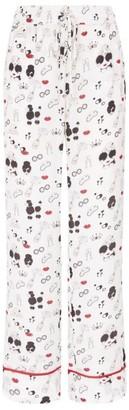Alice + Olivia Alice+Olivia Beauty Rituals Print Pyjama Trousers
