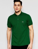 Lacoste Polo Shirt with Croc Logo Regular Fit in Dark Green