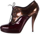 Lanvin Metallic Patent Leather Booties