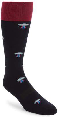 Bonobos Print Cotton Blend Socks