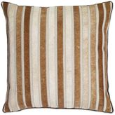 Aura Hide Strips Square Throw Pillow in Tan