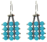 Ten Thousand Things Turquoise Square Pale Chain Earrings