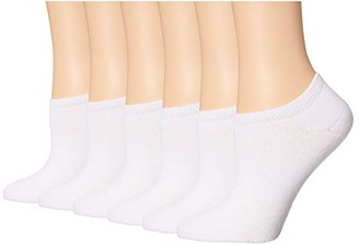 Sof Sole Comfort No Show 6-Pack (White) Women's Crew Cut Socks Shoes