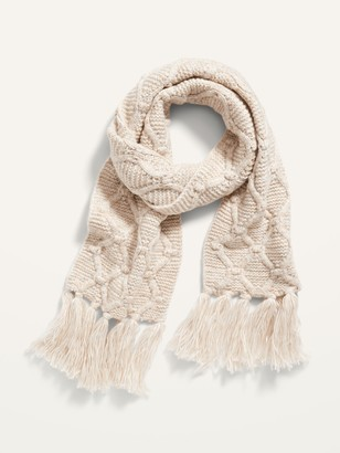 Old Navy Fringed Sweater-Knit Scarf for Women