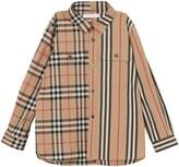 Burberry Amir Mixed Print Woven Shirt