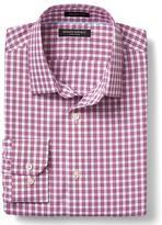 Banana Republic Grant-Fit Non-Iron Small Multi Check Shirt