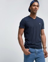 Abercrombie & Fitch Core T-Shirt V-Neck Muscle Slim Fit In Navy
