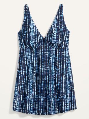 Old Navy V-Neck Secret-Slim Plus-Size Underwire Swim Dress