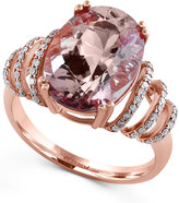 Effy Blush by Morganite (4-3/4 ct. t.w.) and Diamond (1/4 ct. t.w.) Ring in 14k Rose Gold