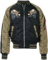 Alpha Industries dragon embroidered bomber jacket
