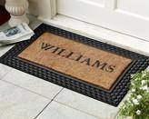 Williams-Sonoma Williams Sonoma Personalized Basketweave Rubber & Coir Doormats