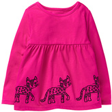 Gymboree Pink Cat-Border Knit Tunic - Infant & Toddler