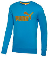 Puma Men's Brilliant Blue Long Sleeve Crewneck Pullover Fleece