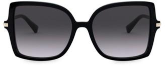 Valentino 56MM Rockstud Square Sunglasses