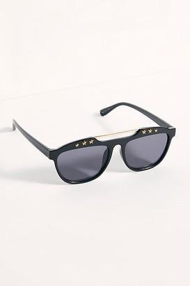 Free People Stella Embellished Aviator Sunglasses