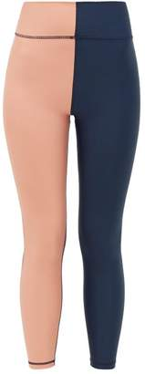 The Upside Harlequin Stretch-jersey Leggings - Womens - Navy Multi