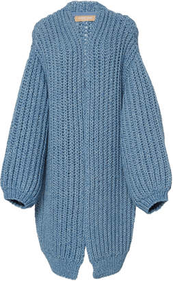 Michael Kors Oversized Alpaca-Cotton Cardigan