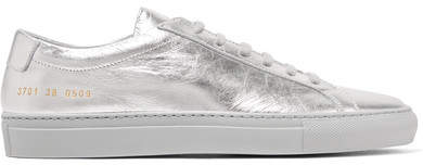 Common Projects Original Achilles Metallic Leather Sneakers - Silver