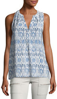 Joie Lorette Printed Sleeveless Silk Top