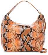Cole Haan Addey Snake-Embossed Leather Double Strap Hobo