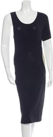Alexander McQueen One-Sleeve Midi Dress