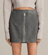 AllSaints Willow Suede Skirt