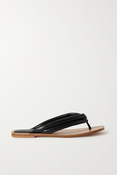 Thumbnail for your product : Dries Van Noten Leather Flip Flops - Black