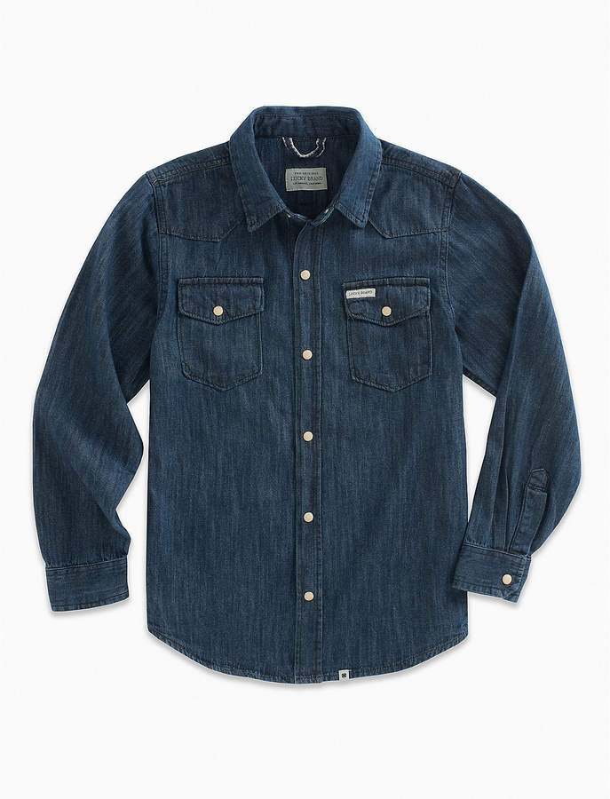 Lucky Brand Long Sleeve Dk Denim Shirt